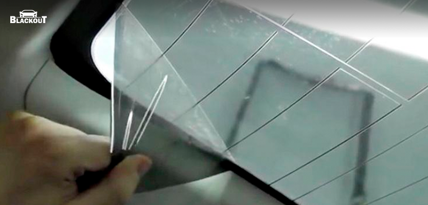 Как снять тонировку с заднего стекла, не повредив обогрев